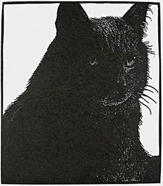 Barry Moser. Untitled (Black Cat), 2003. Wood engraving.