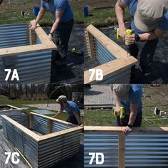 A full tutorial on how to build Galvanized Steel Raised Beds why they are better than any other types of raised beds and how to turn them into easy cold frames cedar gardening raisedbeds raisedbedgardening wholefully # Raised Garden Bed Soil, Raised Vegetable Gardens, Building Raised Garden Beds, Vegetable Garden Design, Vegetable Gardening, Raised Bed Gardens, Organic Gardening, Metal Garden Beds, Vegetable Bed