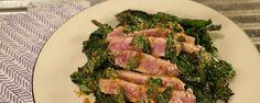 Seared Tuna with Wilted Greens