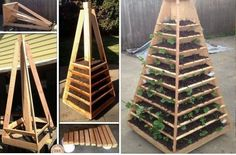 DIY Pyramid Garden Planter   UsefulDIY.com