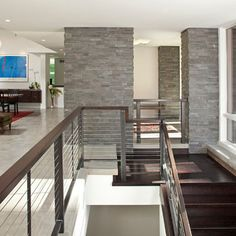 Deephaven Contemporary - contemporary - staircase - minneapolis - John Kraemer & Sons
