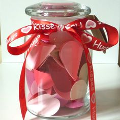 DIY Custom Valentines Sweet Love Notes Jar by SentimentsShoppe