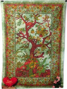 Tie Dye Tree of Life Tapestry Gypsy Indian Handmade Hippy Bohemian Wall Hanging #Handmade