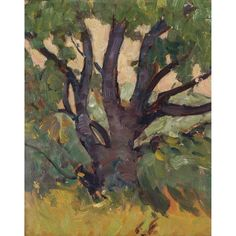 J.E.H. Macdonald - Landscape With Tree 10.5 x 8.5 Oil on board Tom Thomson, Group Of Seven, Tree Oil, Auction, Fine Art, Landscape, Board, Painting, Artists