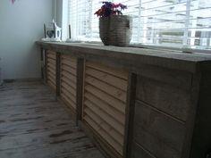 Foto: radiatoren ombouw hout. Geplaatst door IreneParren op Welke.nl