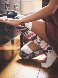 Free People Northbeach Tall Sock from Free People. Shop more products from Free People on Wanelo. Tall Socks, Thick Socks, Cozy Socks, Thigh High Socks, Thigh Highs, Knee Highs, Winter Socks, Sock Shoes, Dress Me Up