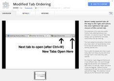 How To Modify Tab Ordering To Switch Tabs In Chrome