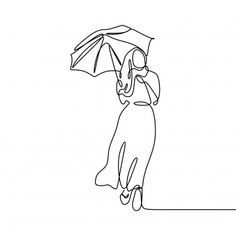 Girl with umbrella awesome and pretty continuous line drawing minimalist design hijab women elegant design PNG and Vector Background Banner, Geometric Background, Background Patterns, Design Minimalista, Wedding Couple Photos, Continuous Line Drawing, Stripes Design, Minimalist Design, Line Art