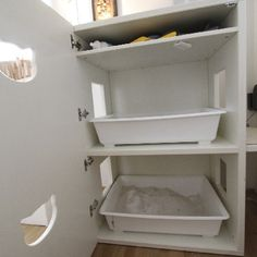 Katzenklo Cat Furniture, Furniture Design, Cat Room, Cat Wall, Litter Box, Cat Design, Animal Shelter, Dog Cat, Home Improvement