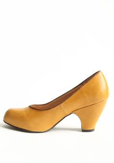 $62.99 Tia Pumps In Mustard By Chelsea Crew   Modern Vintage Shoes