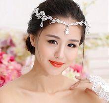 La boda de la venda cabeza cadena joyería pelo Tiara Rhinestone Tiaras y coronas Accessorie pelo nupcial celada Headwear WIGO0391(China (Mainland))