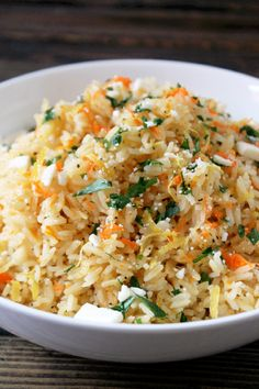 Greek Rice Pilaf made with Thai Jasmine Rice ~ great as a side or as a lunch or dinner bowl.