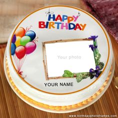 Send wishes or greetings to your kids with happy birthday cake along with his/her name and photo edit option and share the happiness in your kids face totally free. Birthday Wishes With Photo, Happy Birthday Greetings Friends, Happy Birthday Cake Pictures, Happy Birthday Wishes Cake, Happy Birthday Frame, Happy Birthday Flower, Happy Birthday Friend, Very Happy Birthday, Birthday Images