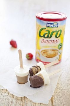 Caro domácí nanuky Snack Recipes, Dessert Recipes, Snacks, Desserts, Cereal, Oatmeal, Chips, Food And Drink, Ice Cream