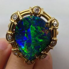 Our best boulder opal ring ever From Quilpie Opal Collection  ck 18093