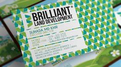 Business Card Design - Brilliant Land Development by Adza Edie, via Behance
