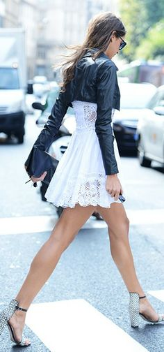 lace and leather ♥✤ | KeepSmiling | BeStayClassy