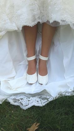 Lace Wedding Shoes with Ankle Strap Flat by HopefullyRomantic