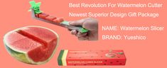 Yueshico Stainless Steel Watermelon Slicer Cutter Knife Corer Fruit Vegetable Tools Kitchen Gadgets with Melon Baller Scoop Extra Watermelon Cutter, Watermelon Slicer, Gift Packaging, Kitchen Gadgets, Plastic Cutting Board, Fruit, Gifts, Stainless Steel, Tools