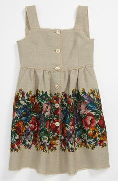 Dolce 'Fiori Colonna' Dress (Little Girls & Big Girls) available at #Nordstrom