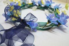 {Bridal Fashion} Flower Girl Floral Headdress | #BowdabraBlog #flowergirl #wedding