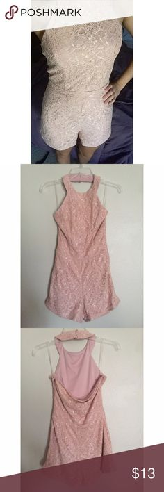 Lacey Romper Cute Lacey romper purchased in a small. Never worn outside of home. Great condition. No holes or stains. Charlotte Russe Pants Jumpsuits & Rompers