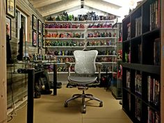 The Shed of Solitude - Tuff Shed Man Cave Shed, Man Cave Diy, Man Cave Home Bar, Man Cave Inspiration, Comic Room, Tuff Shed, Geek Room, Bath Shower Mixer Taps, Displaying Collections