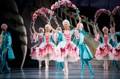 Garland dancers in Act 1 of David McAllister's new production of the Sleeping Beauty for the Australian Ballet. Photography: Kate Longley