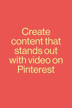 Want to find out how to capture Pinners' attention and drive meaningful engagements? Read up on Pinterest video best practices and how you can tailor your video content to best suit Pinterest.