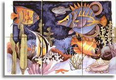 4140 Fish Of The Tropics Tile Mural ~ Ceramic Tile ~ Range Stove Back-splash ~ Kitchen Tile Art ~ Custom Tile Mural ~ Decorative Tiles 11