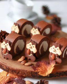 Cute Thanksgiving Desserts, Cute Desserts, Sweet Recipes, Cake Recipes, Dessert Recipes, Cute Food, Good Food, Mango Mousse, Food Design
