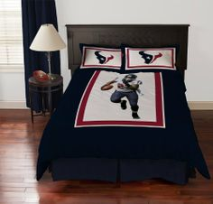 Biggshots Houston Texans Arian Foster Comforter Set, Full by Biggshots. $204.27. 100 percent polyester plush super select fiber filling and machine washable. Football room decor with NFL team colors. Set includes comforter and bed skirt and pillow sham. Crisp true life action imagery by Biggshots. Official NFL and NFL player association license team bedding. Experience the action and get in the game with your favorite Biggshots NFL player full comforter set. NFL football fan...