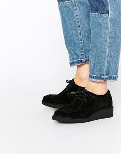 Image 1 ofASOS MAGNUM Suede Flat Shoes