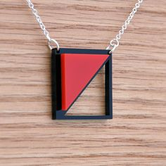 Acrylic Laser Cut Chevron Necklace Pendant by moderngirljewelry, $12.00