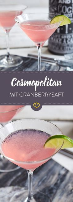 Die Hotelbar hat ausgedient. Werde zum Weltenbummler und mixe dir einen unfassbar guten Cosmopolitan Cocktail zu Hause nach.