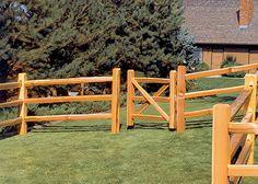 split rail fence with gate