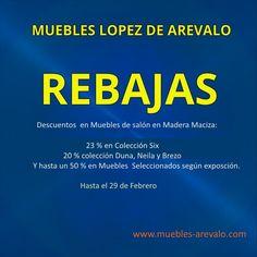 Rebajas #muebles #madrid #escuentos #sofas