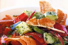 Fresh herbs and spices make this Lebanese bread salad extra special.