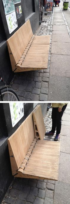 Experimental urban seating in Copenhagen. Click image for link to source and visit the slowottawa.ca boards >> https://www.pinterest.com/slowottawa/