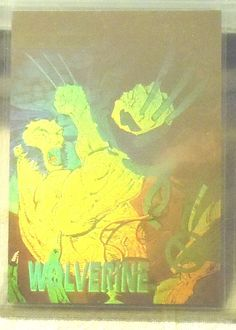 1992 MARVEL X-MEN SERIES 1 GOLD CHASE INSERT CARD HOLOGRAM  WOLVERINE XH-1