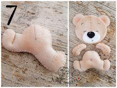 montaggio orso in feltro