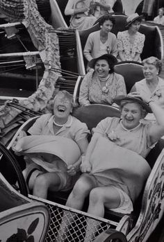 Timeless friendship. I hope my friends and I are getting together, laughing til our sides hurt, at this age. :)