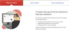 Google 2-Step Verification:    Stronger security for your Google Account!