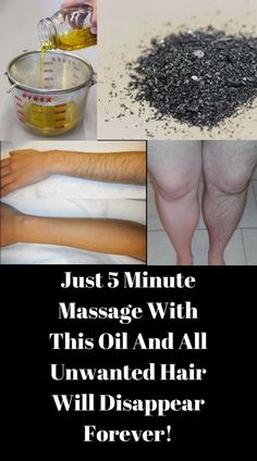 Just 5 Minute Massage With This Oil And All Unwanted Hair Will Disappear Forever! | Vitality Point