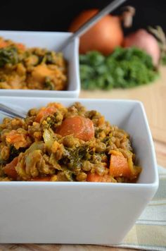 Lentil, Sweet Potato and Kale Stew (Vegan, Gluten-Free) #veganrecipes #glutenfreerecipes #vegandinnerideas