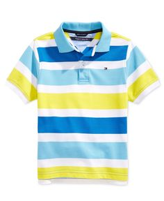 Tommy Hilfiger Little Boys' Shawn Striped Polo Shirt