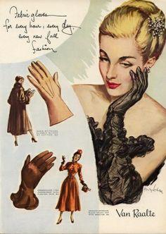 Van Raalte Gloves ad, 1948.