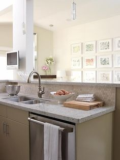 The countertops, the faucet, and the lighting |  Sarah Richardson Design