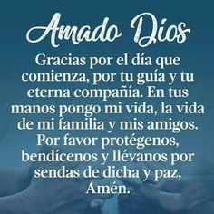 God Prayer, Prayer Quotes, Bible Quotes, Quotes Amor, Good Morning Prayer, Morning Prayers, Spanish Inspirational Quotes, Spanish Quotes, Spanish Memes
