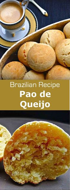 Pao de queijo is a small cheese bread roll, similar to cheese puffs, very common…